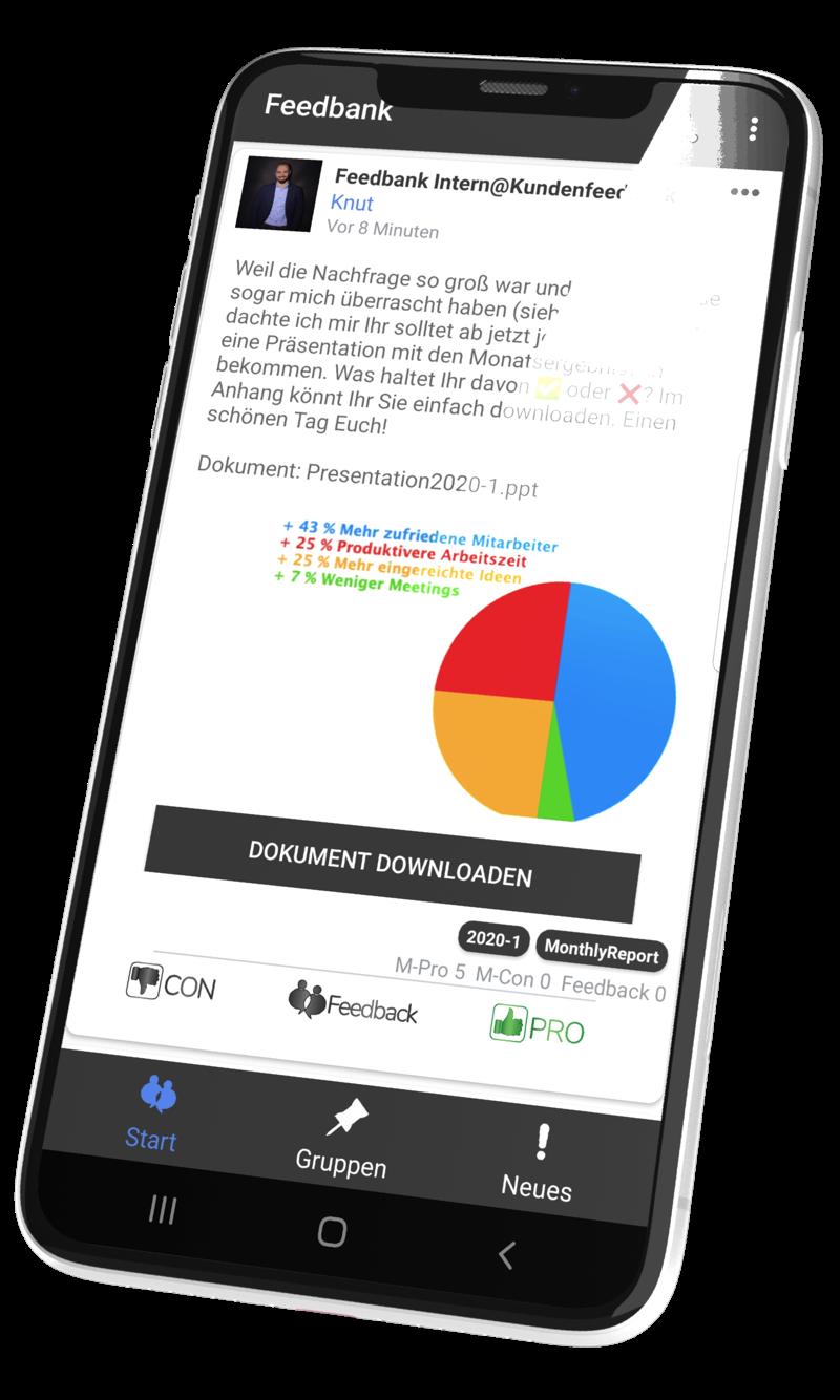 Die Feedbank-App mit ❤️ für gute Mitarbeiter