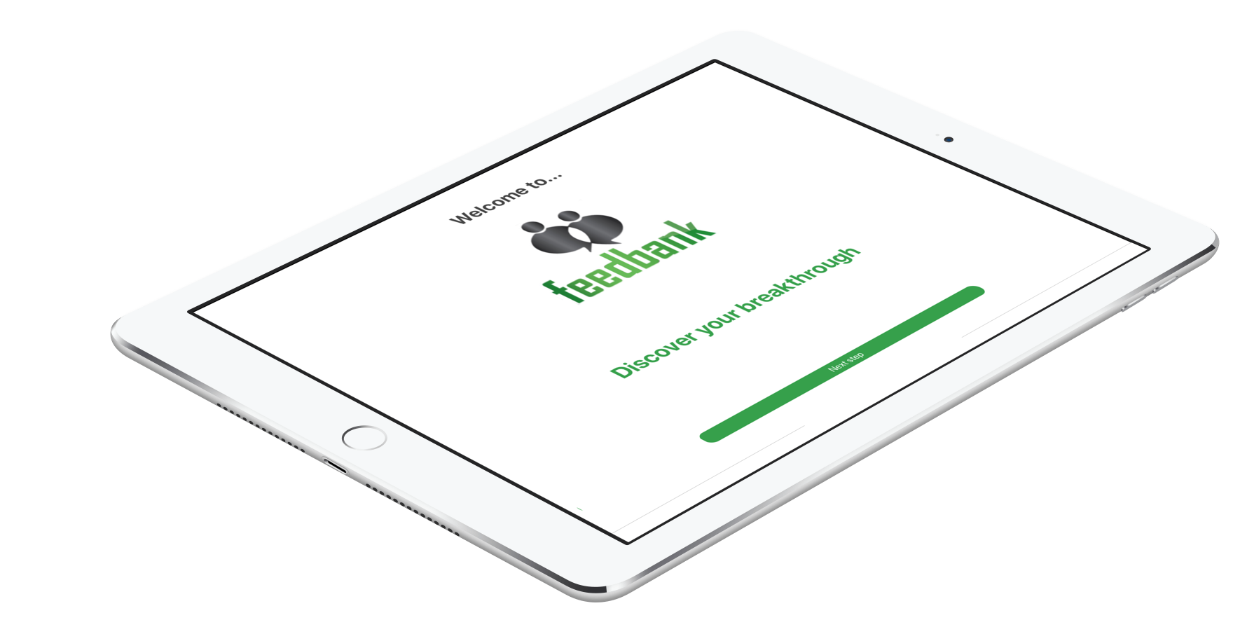 Einfacher Zugriff auf die Feedbank-App auch über das Tablet
